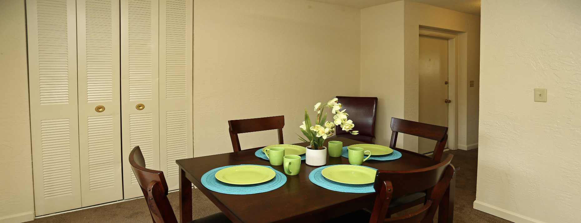 dining room with beautiful table to share with family